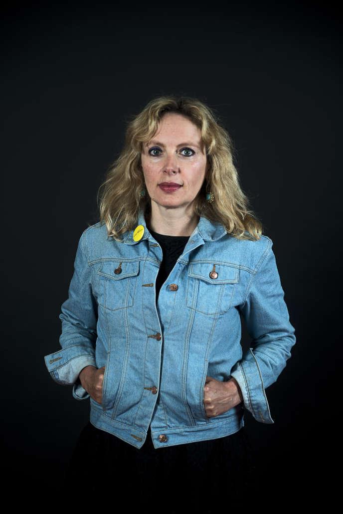 L'écrivaine Hélène Frappat, en 2016.