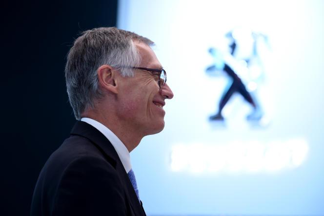 Carlos Tavares, président du directoire du groupe PSA, à Paris, en octobre 2018