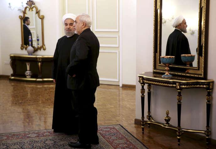 Hassan Rohani et Mohammad Javad Zarif, à Téhéran, en janvier 2016.