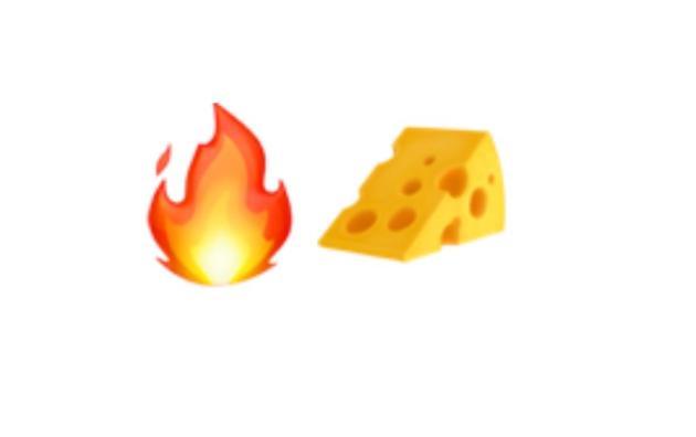 La proposition du consortium Unicode pour représenter la raclette en émoticône.