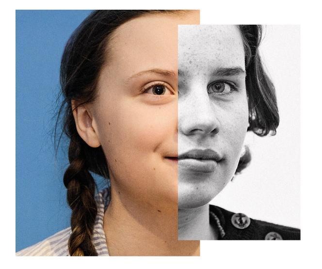Greta Thunberg (à gauche) et Anuna De Wever (à droite), deux visages de la lutte contre le changement climatique.