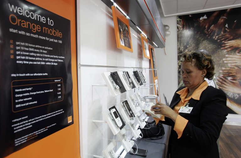 Un magasin de téléphonie mobile à Nairobi, en septembre 2008.