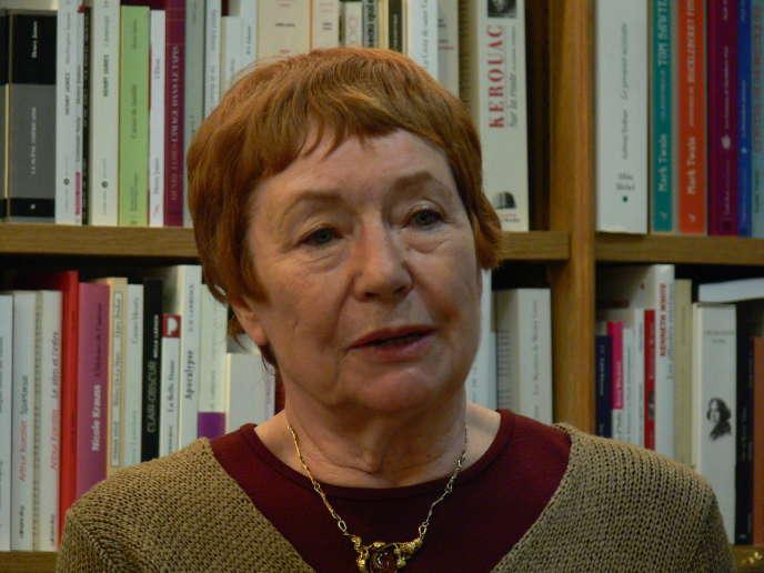 Marie-Claire Bancquart à la librairie Tschann à Montparnasse, Paris, en 2010.