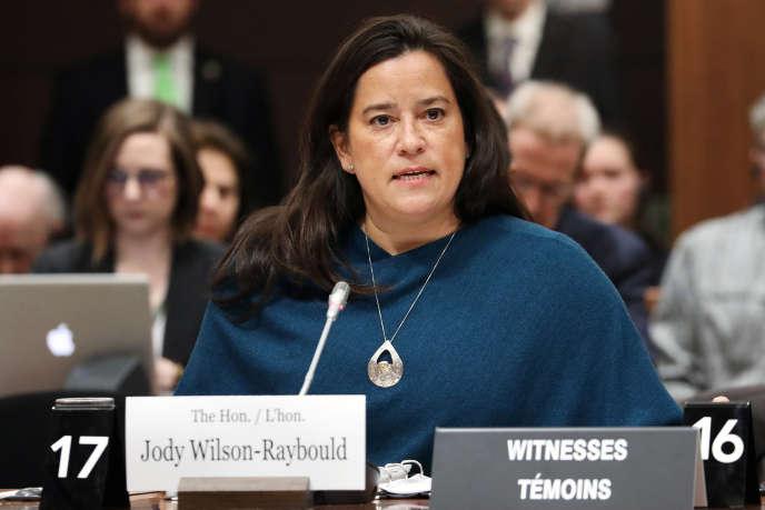 Jody Wilson-Rayboulddevant le comité de la Chambre des communes, mercredi 27février, à Ottawa.