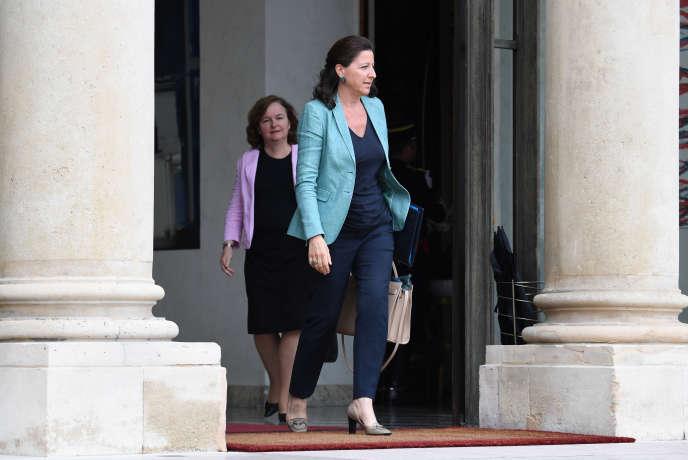 Nathalie Loiseau, ministre chargée des affaires européennes, et Agnès Buzyn, ministre dela santé, à l'Elysée, en juin 2018.