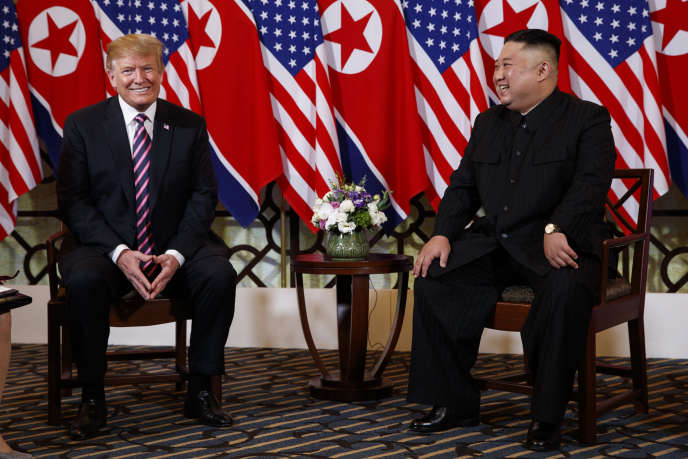 Donald Trump et Kim Jong-un, à Hanoï (Vietnam), le 27 février.