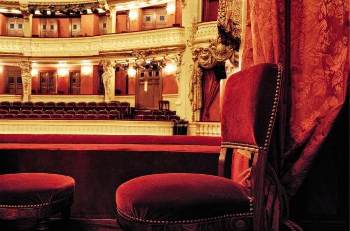 L'Opéra-Comiquevu depuis la loge Choiseul.