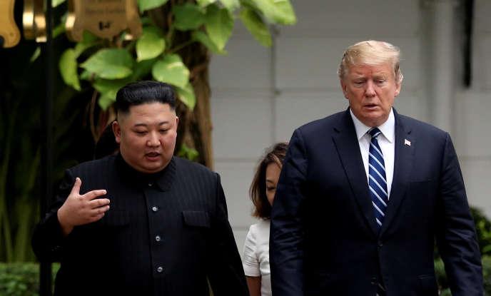 Kim Jong-un et Donald Trump, à Hanoï, le 28 février.