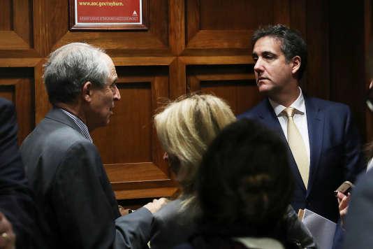 Michael Cohen arrive au Congrès avant son audition devant la commission du renseignement de la Chambre des représentants, jeudi 28 février.