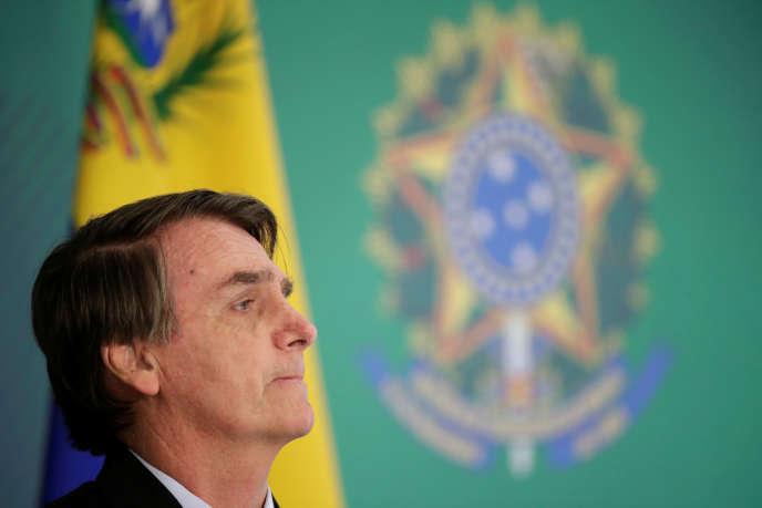 Le président brésilien, Jair Bolsonaro, à Brasilia, le 28février.