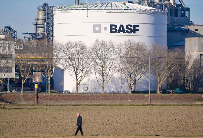 Au siège de BASF, premier groupe chimiste mondial, à Ludwigshafen (Rhénanie-Palatinat, ouest de l'Allemagne), le 26 février.