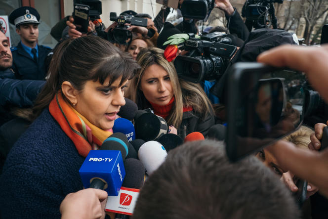 Laura Codruta Kövesi à Bucarest, le 15 février.
