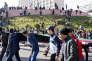 Des manifestants, le 22 février, à Oran, Algérie.