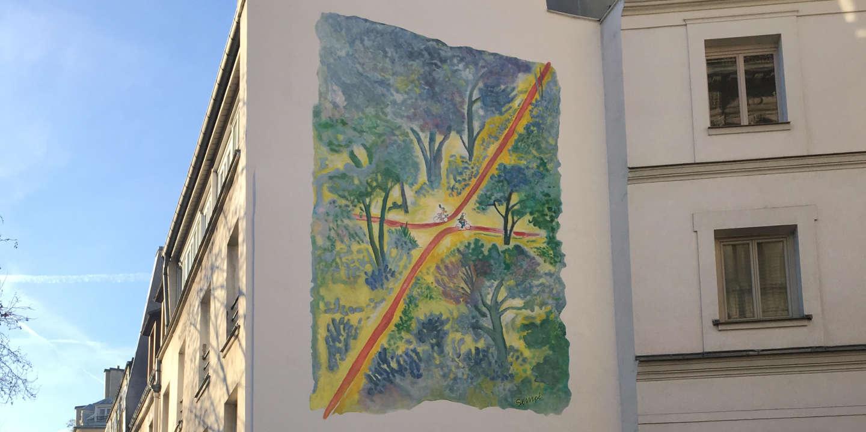 L Inauguration D Une Fresque Sempé Croquée à La Manière Du