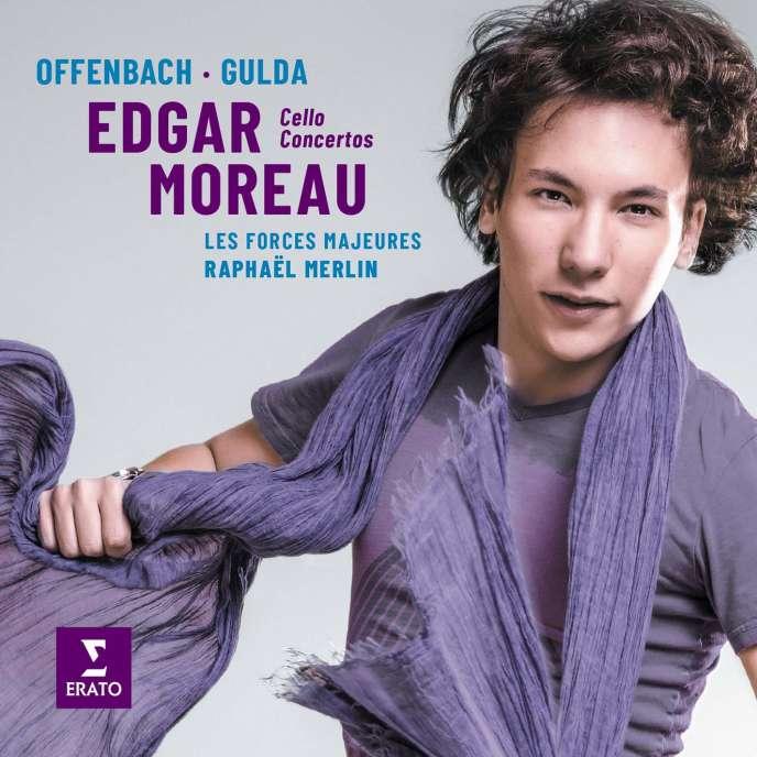 Pochette de l'album consacré aux concertos d'Offenbach et Gulda par Edgar Moreau et Les Forces majeures (direction : Raphaël Merlin).