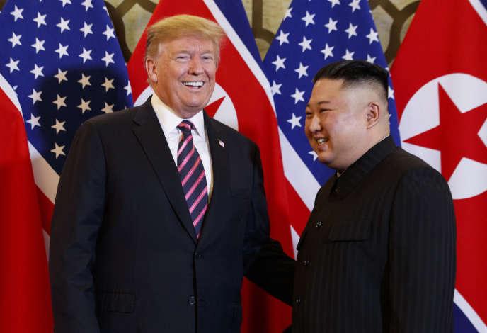 Donald Trump et Kim Jong-un à Hanoï, le 27 février 2019.