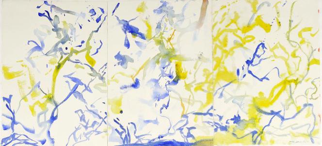 L'une des œuvres de Zao Wou-Ki exposée à la galerie Kamel Mennour (Paris 6e).