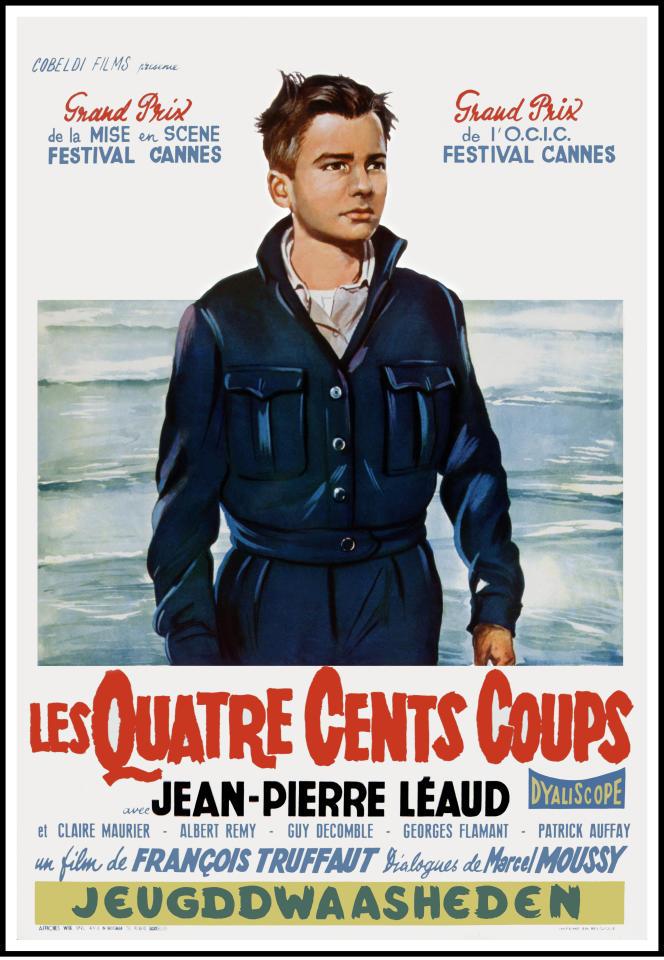 Affiche originale belge du film «Les quatre cents coups», de François Truffaut
