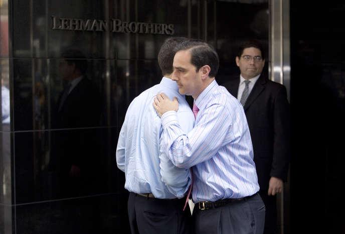 Le jour de la faillite de Lehman Brothers, le 15 septembre 2008 à New York.