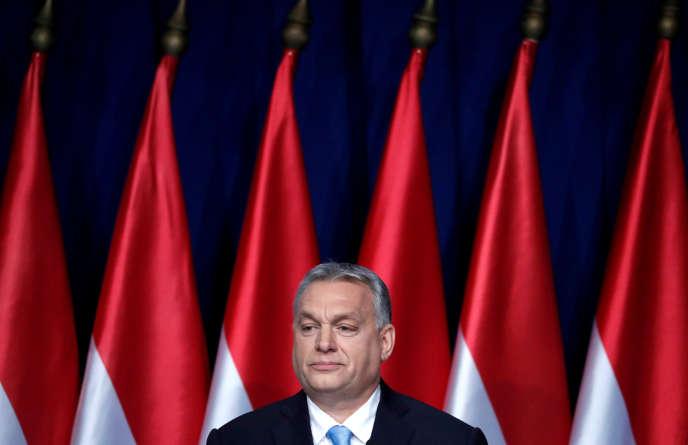 Le premier ministre hongrois, Viktor Orban, lors de son discours sur l'état de la nation,à Budapest, le 10février.
