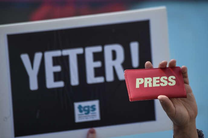Rassemblement pour la liberté de la presse à Istanbul, en mai 2017.