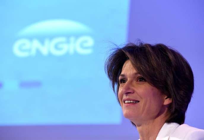 La directrice générale d'Engie, Isabelle Kocher, à La Défense, près de Paris, le 8 mars 2018.