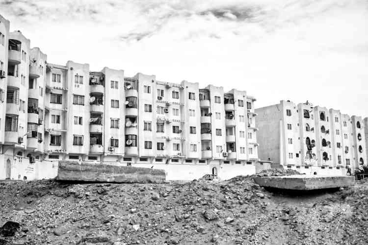 Une cité dans le quartier de Haï Enassr, en banlieue de Ouargla.