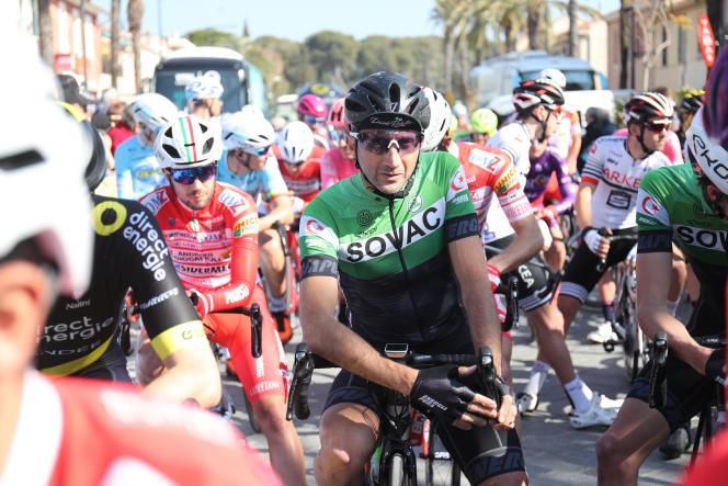 Davide Rebellin, le 24 février, sur le Tour du Haut-Var.
