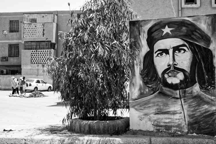 Une peinture de Che Guevara dans un quartier de Ouargla.