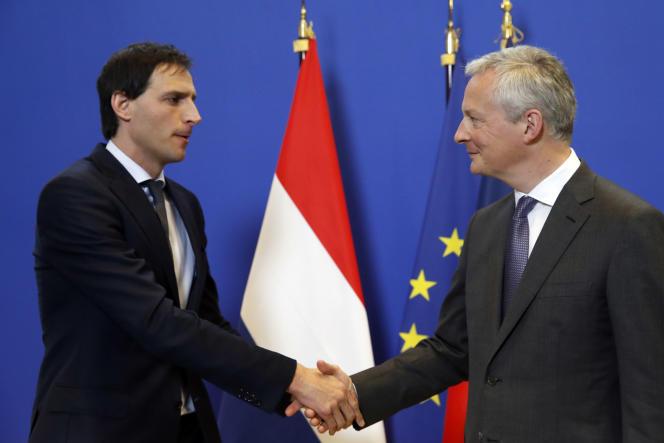 Le ministre des finances néerlandais, Wopke Hoekstra, et son homologue français, Bruno Le Maire, le 1er mars, à Paris.