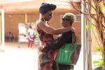 Nadège Beausson-Diagne et Azata Soro, à Ouagadougou, le 28 février 2019.