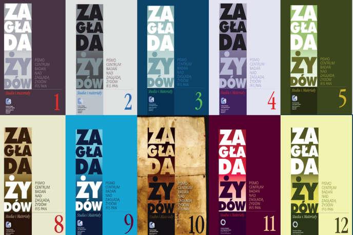 L'affiche du colloque de l'EHESS, montrant la revue «ZagładaŻydów» du centre derecherchessur la Shoah de l'académie polonaise des sciences.