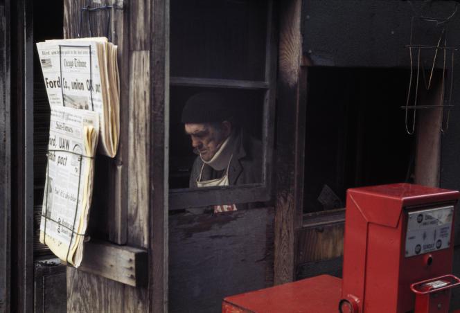 «Chicago, October 1976», de Vivian Maier, tirage chromogène, posthume.