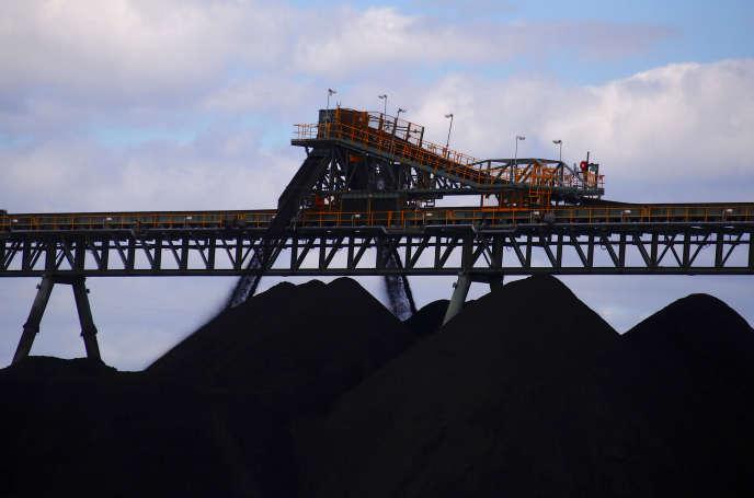 La mine d'Ulan, en Nouvelle-Galles du Sud (sud-est de l'Australie), en mars 2018.
