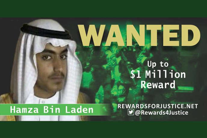 L'offre de récompense pour aider à localiser Hamza BenLadendiffusée par le département d'Etat américain, le 28 février.