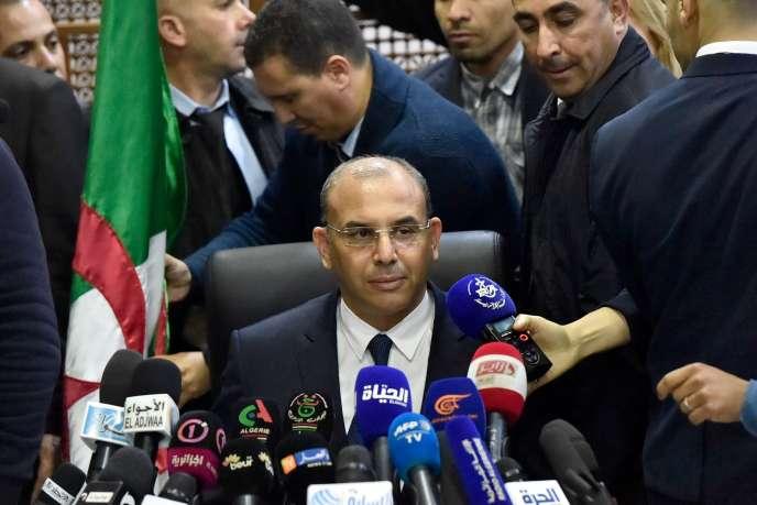 Le directeur de campagne d'Abdelaziz Bouteflika, Abdelghani Zaalane, dimanche 3 mars.