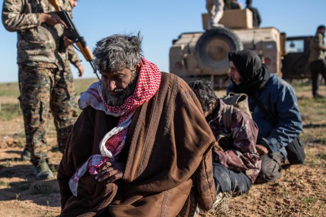 Campement de Tanak, Syrie, près de Baghouz, dernière poche encore tenue par l'Etat islamique, le 1er mars.