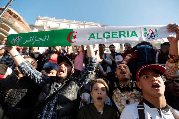 Manifestation en Algérie contre un cinquième mandat du président Bouteflika, le 3mars 2019.