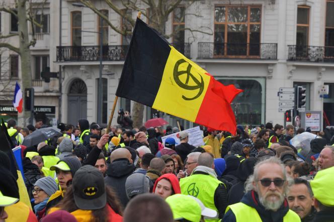 Manifestation de « gilets jaunes» à Lille, le 2 mars.