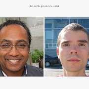 Le sitewhichfaceisreal.com vous propose chaque fois deux portraits : l'un représente une personne réelle, l'autre le visage d'une personne créée par un programme d'intelligence artificielle.