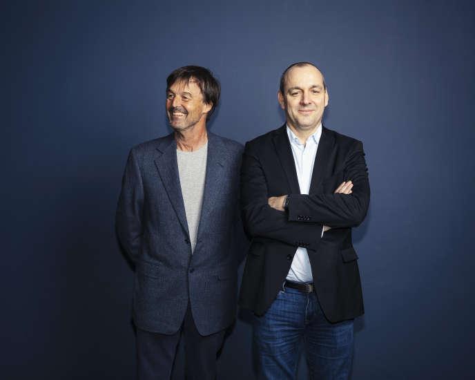 Nicolas Hulot (à gauche) et Laurent Berger, à Paris, le 28 février 2019