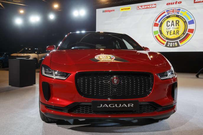 La Jaguar I-Pace, élue modèle de l'année 2019 à deux voix près.