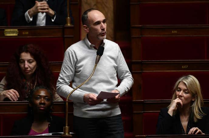 Le député LFILoïc Prud'homme à l'Assemblée nationale, le 20 février.