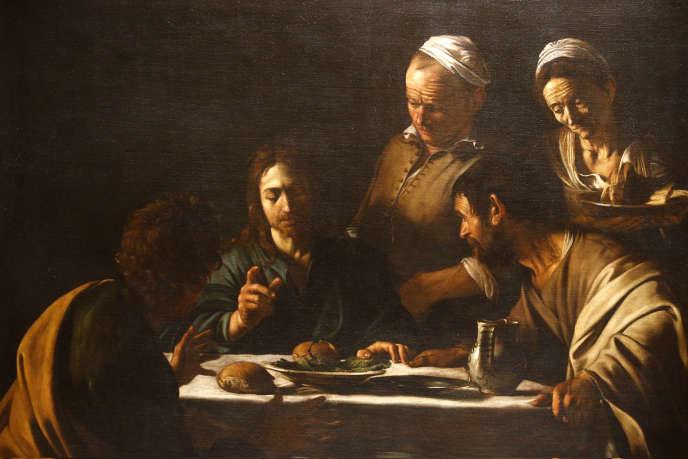 «Le Souper à Emmaüs», duCaravage (1606), Académie des beaux-arts de Brera, à Milan.