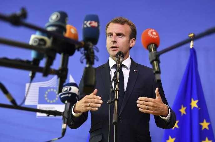 Emmanuel Macron à Bruxelles, le 24 juin 2018.