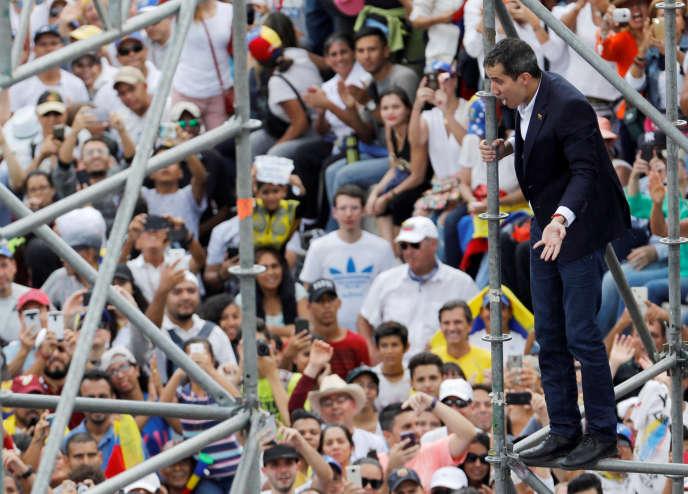 Juan Guaido, à Caracas, le 4 mars.