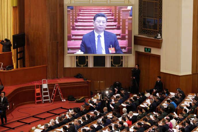 Le président chinois Xi Jinping lors de l'ouverture de la session parlementaire, à Pékin, le 5 mars 2019.