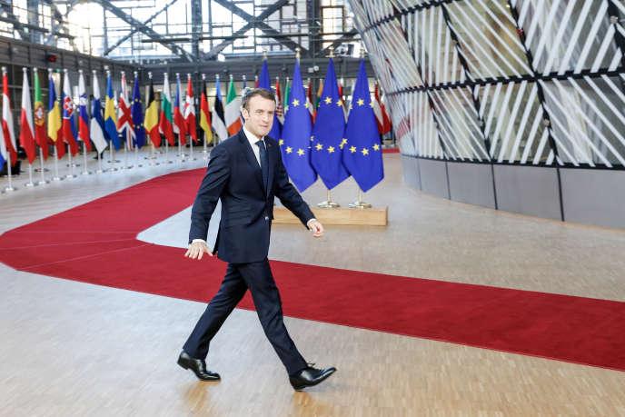 Emmanuel Macron, à son arrivée au Conseil européen, à Bruxelles, le 13 décembre 2018.
