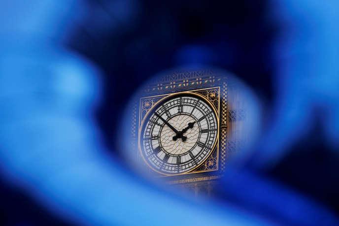 L'horloge Big Ben au-dessus du Parlement britannique, à Londres.