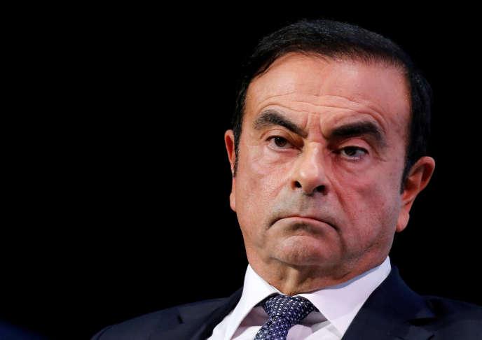 Carlos Ghosn, alors PDG de Nissan et Renault, le 1er octobre 2018 à Paris.